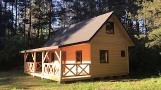 """Dom drewniany projekt """"Żuraw 3"""""""