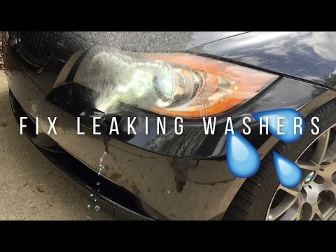 BMW How to Fix Leaking Headlight Washers
