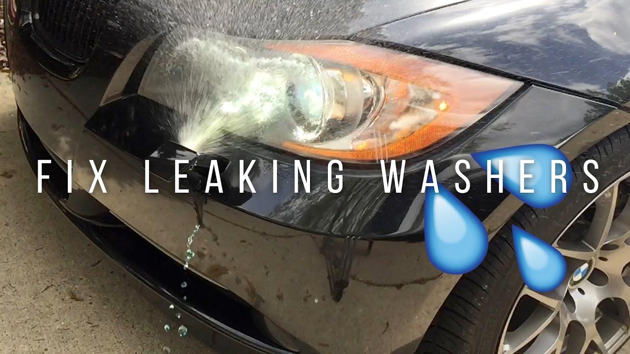 Bmw How To Fix Leaking Headlight Washers Youtube