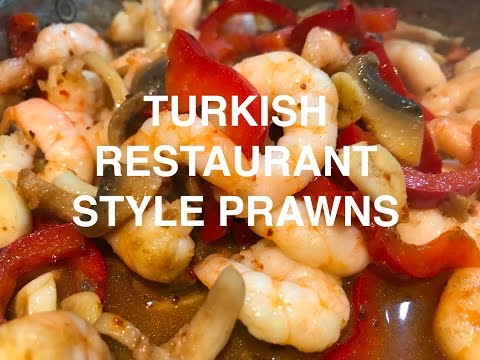 The Best Turkish Restaurant Style Prawns in 5 mins