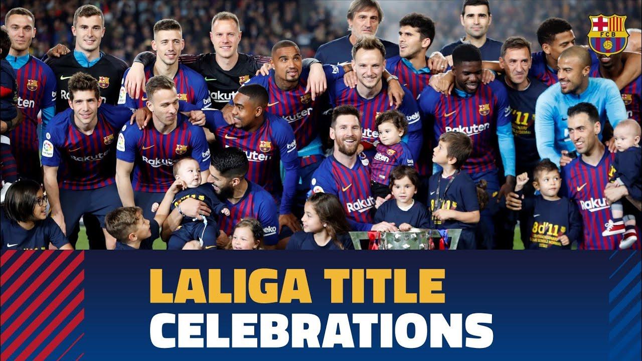 Fc barcelona la liga trophy 2018