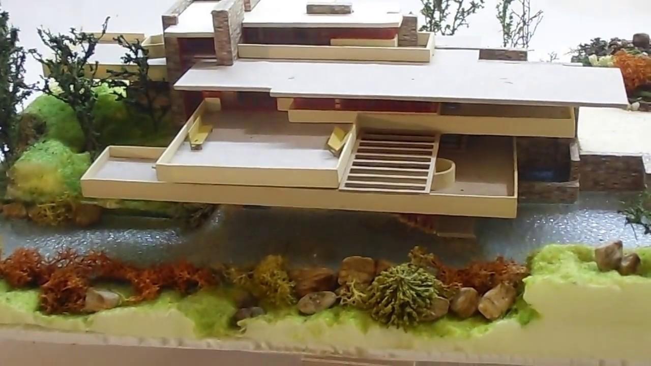 Architettura in miniatura falling water la villa sulla for Architettura wright