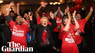 Victorian State Election 2018: labor supporters celebrate as Daniel Andrews wins