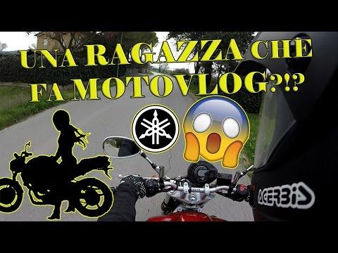 LA PRIMA MOTOVLOGGER IN ITALIA! RAGAZZA in sella ad una YAMAHA FZ6! + come NON cambiare marce!