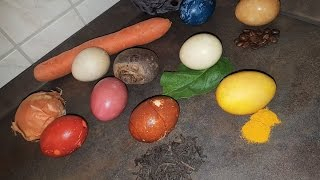 Покраска яиц с натуральными продуктами!!!