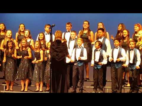 Placerita Junior High School Choir 2016-  Good News Chariots are Comin'