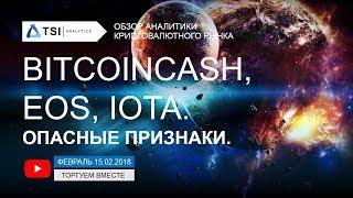 BitcoinCash, EOS и IOTA — опасные признаки   Прогноз цены на Криптовалюты