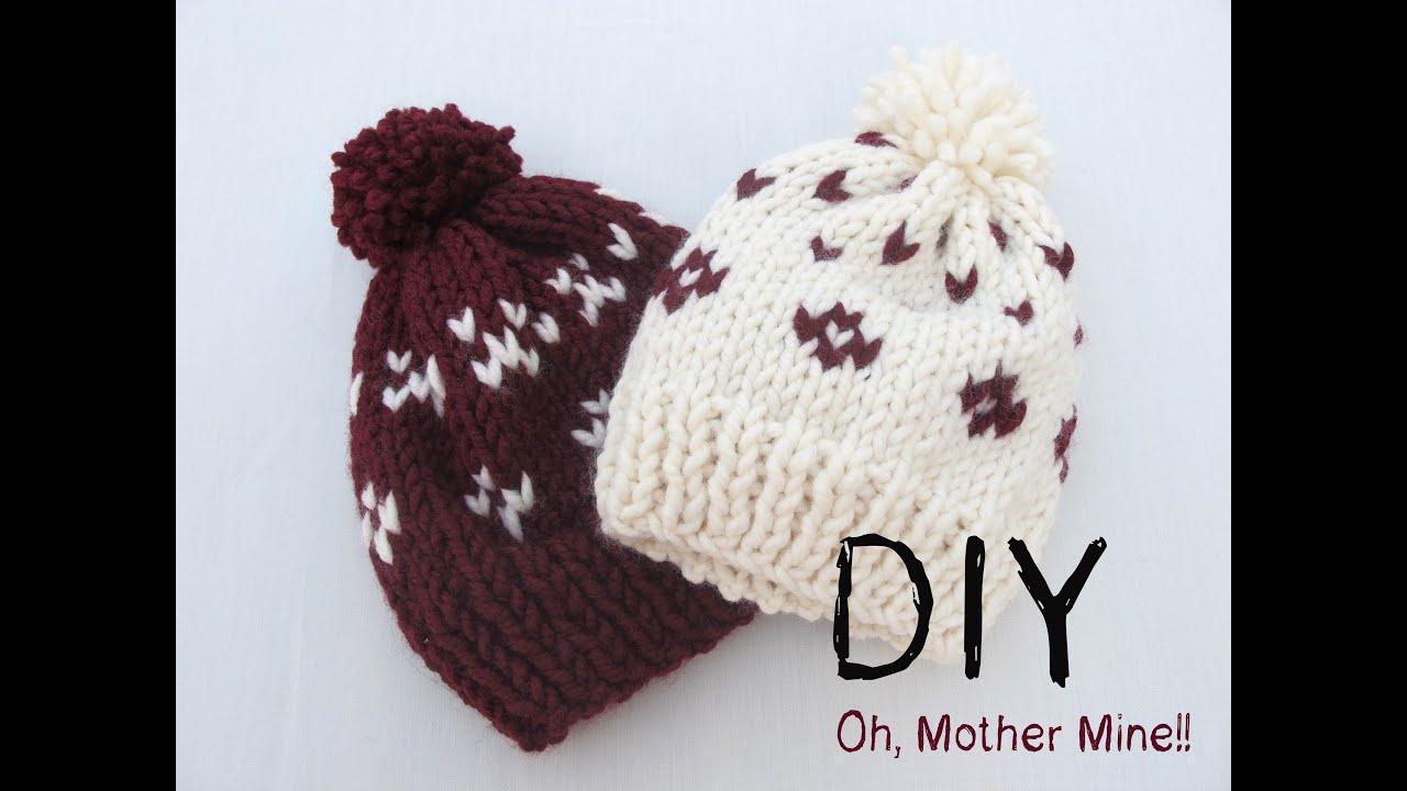 f11c5d5cce3e7 DIY Como hacer gorros de lana con dos agujas - YouTube