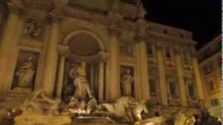 LA FONTANA DI TREVI DE NOCHE (ROMA)  3/3 CON SUTRA TOURS