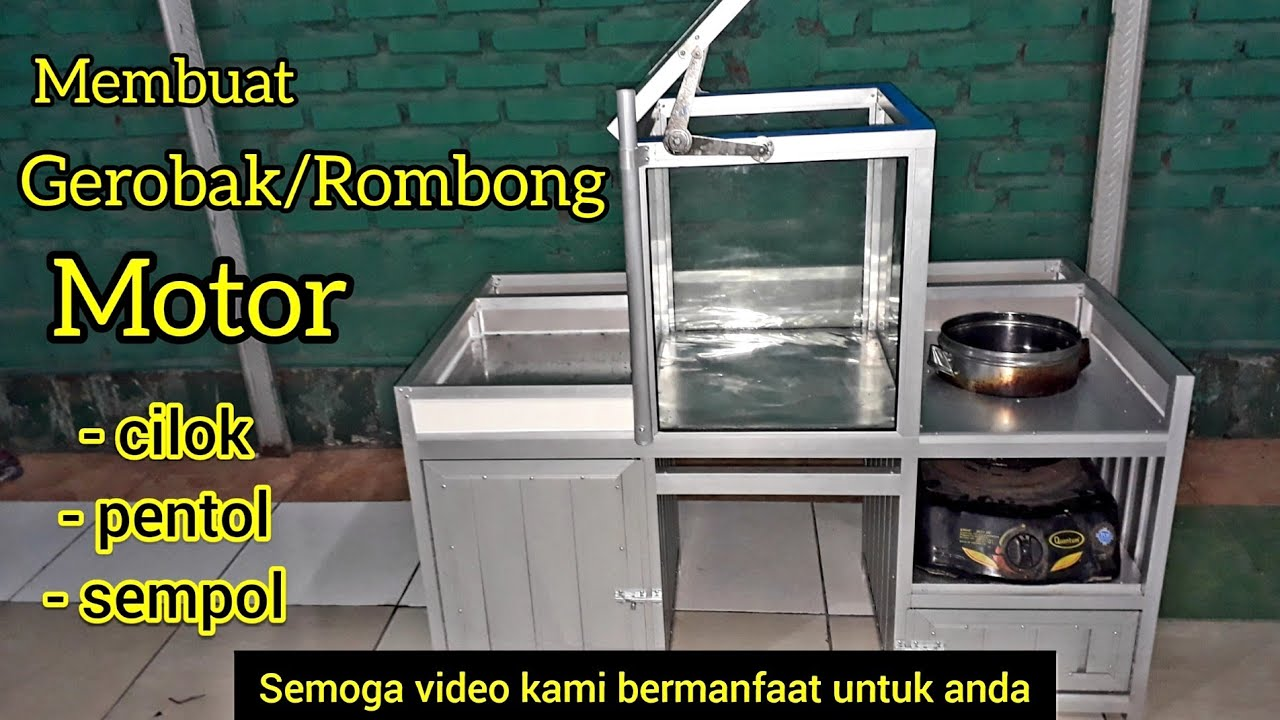 Membuat Gerobak Motor Rombong Motor Aluminium Minimalis Youtube Gambar gerobak motor