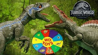 New JURASSIC WORLD FALLEN KINGDOM Slime Wheel Game Mattel Vs Hasbro Toys + Dinosaurs WD Toys