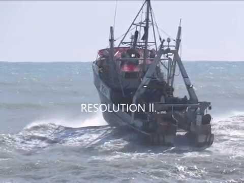 The RESOLUTION ll  crossing the Greymouth Bar Westcoast, New Zealand  C BJ Hunter    Copy