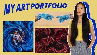 accepted art portfolio - risd, harvard, stanford