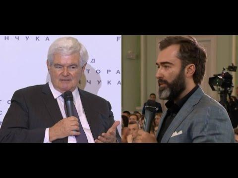 Peter Zalmayev (Залмаев) asks Newt Gingrich about Trump and NATO/EU/Ukraine