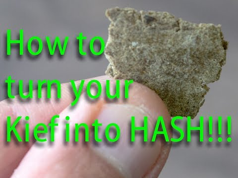 How to make Hash out of Kief