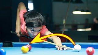 ADU SKILL!!  Pemain Billiard Tercantik VS Juara Dunia Billiard
