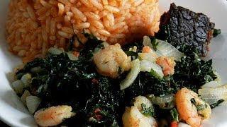 Vegetable & Prawn Stir Fry For Nigerian Jollof Rice, Boiled Plantains E.tc