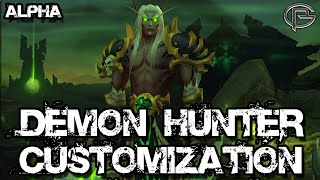 Demon Hunter Character Customizations - Legion Alpha