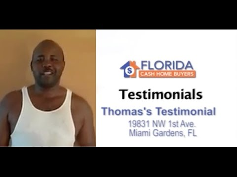 Florida Cash Home Buyers - Testimonial - Thomas Dorneval
