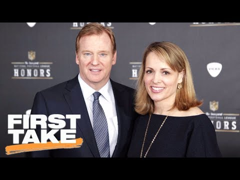 First Take reacts to Roger Goodell's wife making anonymous twitter account   First Take   ESPN