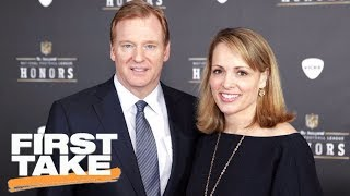 First Take reacts to Roger Goodell
