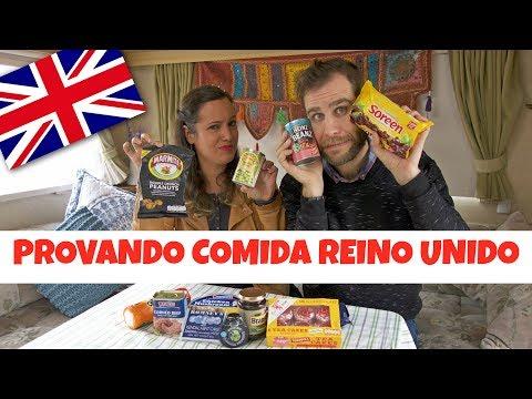 Provando comida do Reino Unido