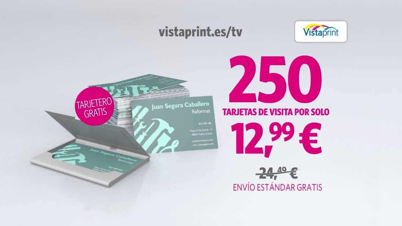 Publicidad TV Tarjetas De Visita Vistaprint