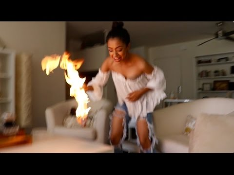 Thumbnail: SHE ACCIDENTALLY SET IT ON FIRE!!