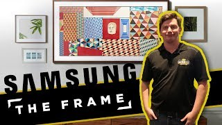 How To: Samsung The Frame Smart Tv & Art Frame Unboxing, Installation and Setup - UN55LS003AFXZC