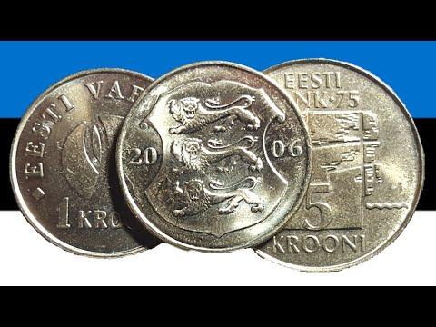 Estonia Kroon coins 1992-2011