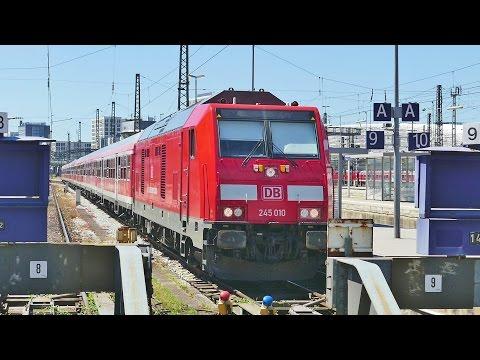 Zugverkehr in München Hbf im Sommer 2016
