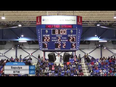 Basketball, Sapulpa V. BTW Hornets