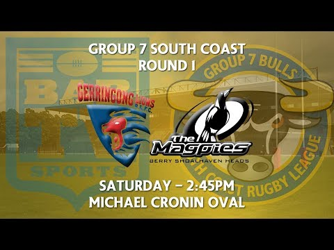 2018 Group 7 RL 1st Grade Round 1 - Gerringong Lions v Berry-Shoalhaven Heads Magpies