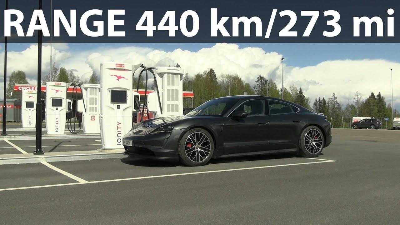 Porsche Taycan 4s 79 Kwh Range Test Youtube