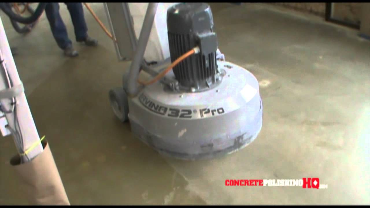 Concrete Polishing Demo - Diamond Rental
