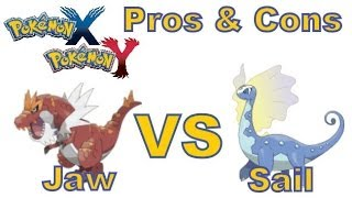 Pokemon X And Y - 3DS - Jaw Fossil vs Sail Fossil! Pros + Cons, which one is better?