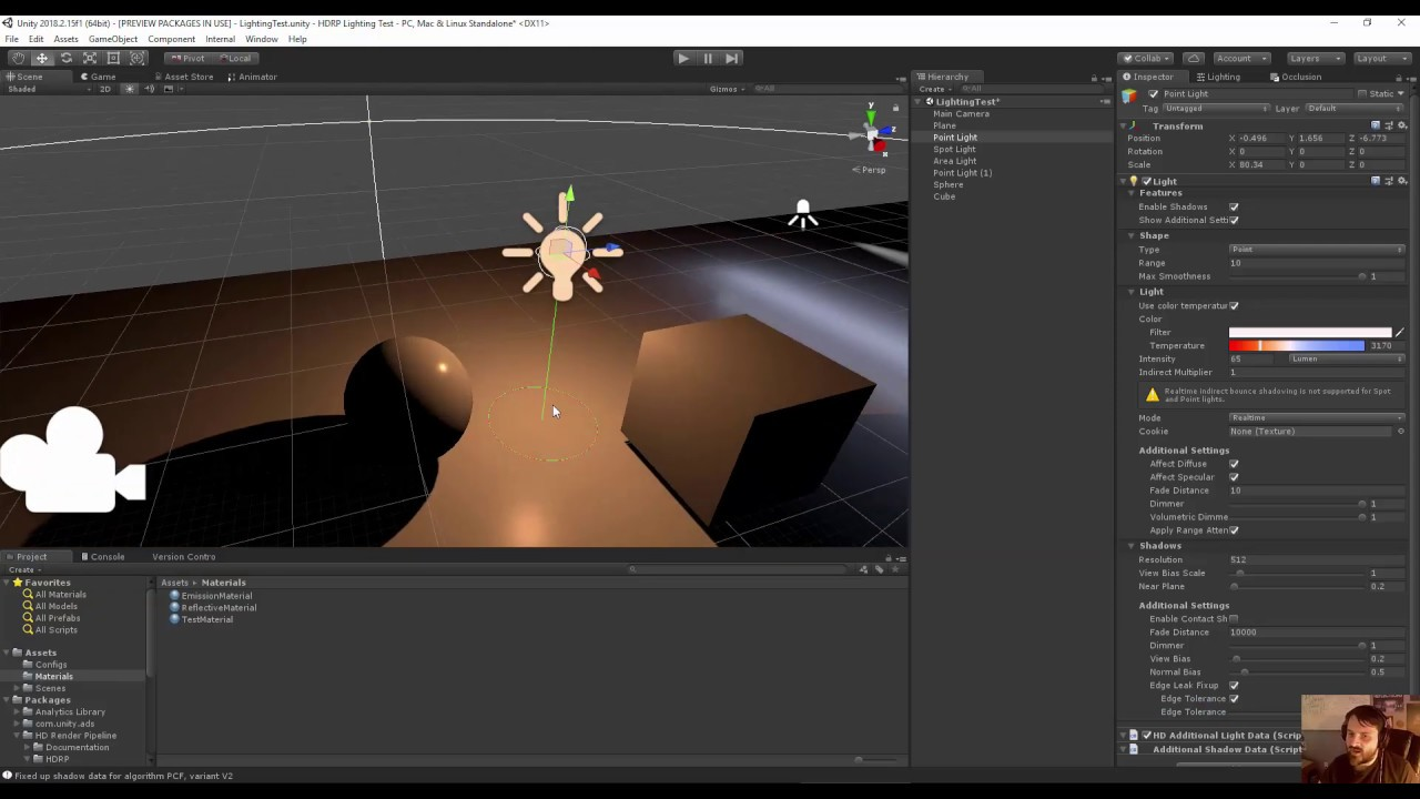 Unity HD Render Pipleline Tutorial Part 3 - Light Features