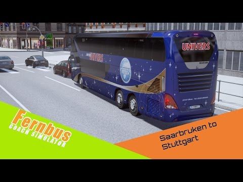 Fernbus Simulator | Day 4 | Neoplan Skyliner | Saarbruken to Stuttgart