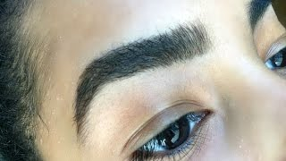 MAKEUP  EYEBROW ROUTINE for thick, bushy eyebrows!