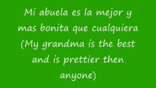Maria Isabel Mi Abuela Spanish and English Lyrics
