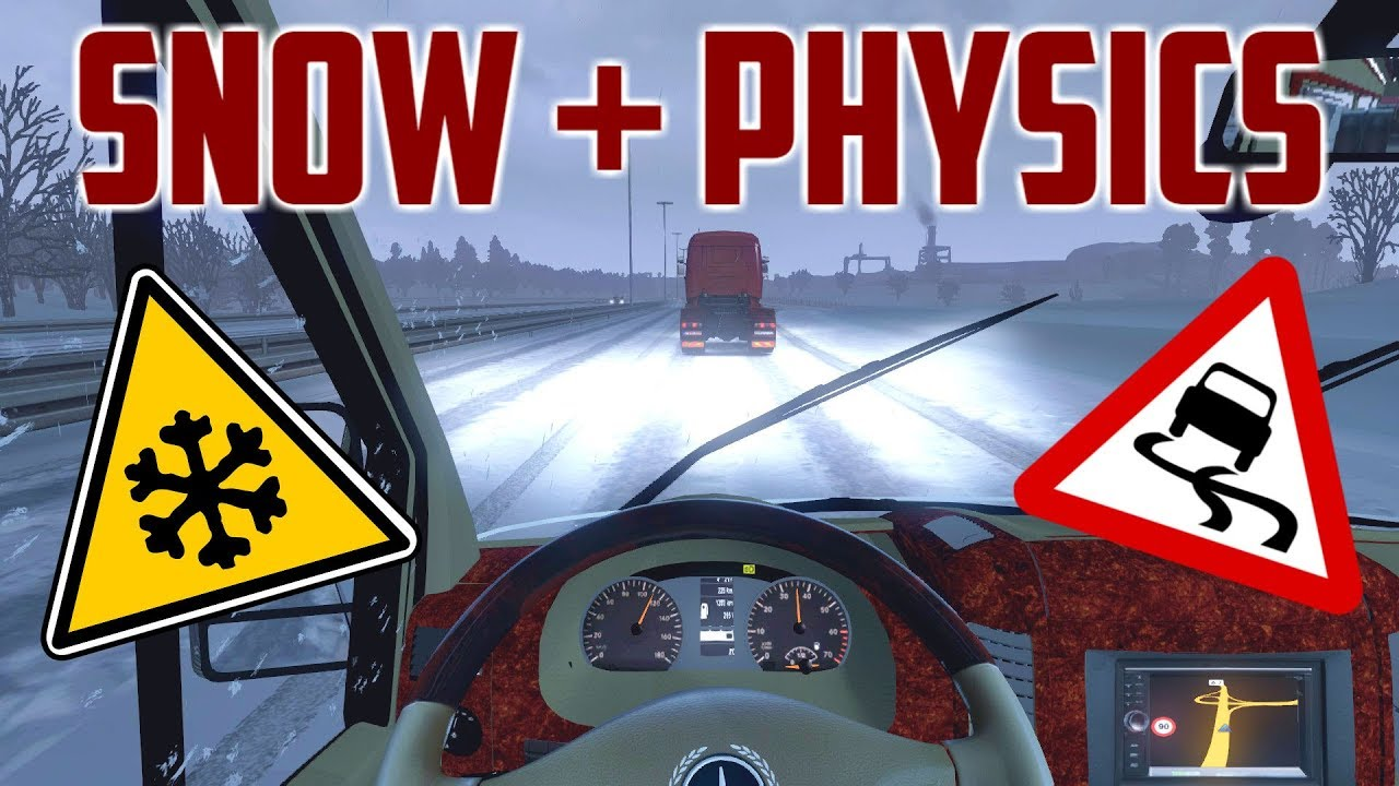 Ets 2 The Best Snow Physics Mod Showcase Download Frosty
