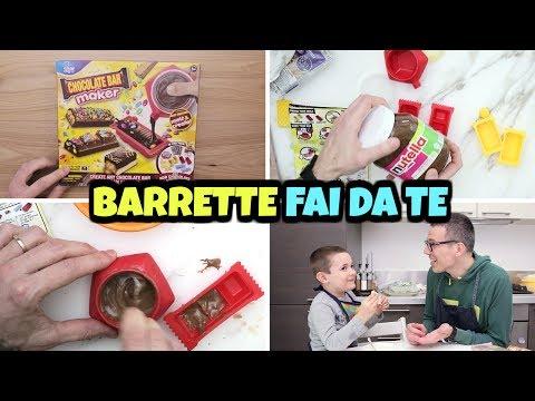 Facciamo BARRETTE DI CIOCCOLATO IN CASA con Chocolate Bar Maker