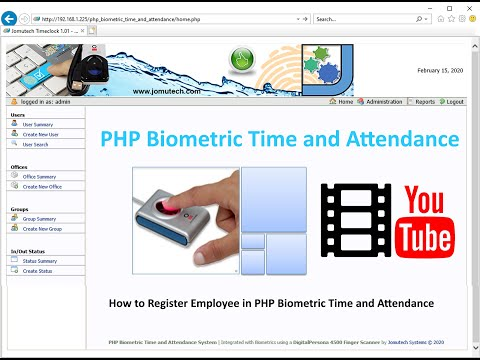 How to Register an Employee in PHP Biometric Time and Attendance with a DigitalPersona 4500 Scanner
