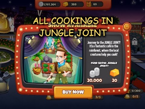 All Cookings In Jungle Joint (Cooking Dash)