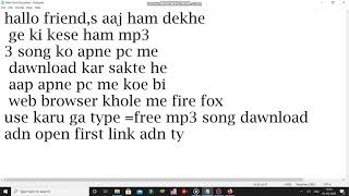 how to dawnload free mp3 song dawnload