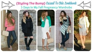 {Styling The Bump} Casual To Chic Lookbook | 5 Days in My Fall Pregnancy Wardrobe Thumbnail