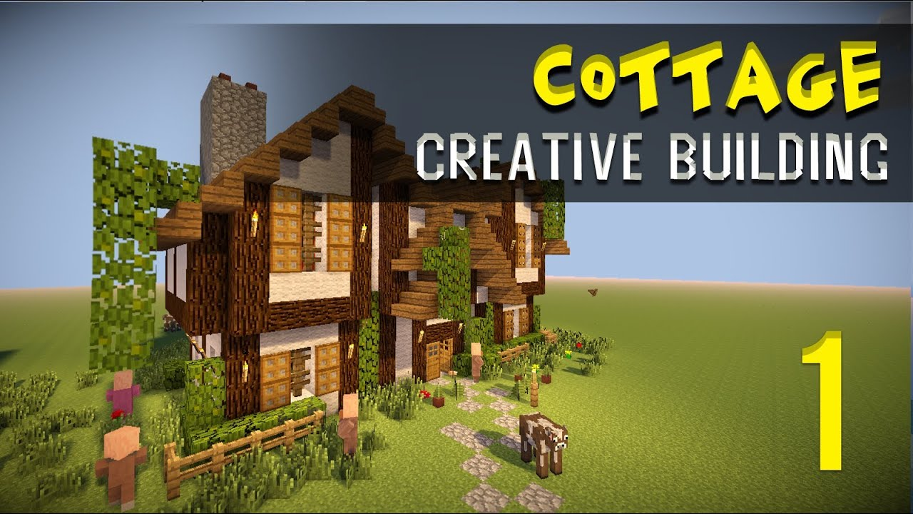 Minecraft creative build modern house cottage part 1 for How to build a cottage house