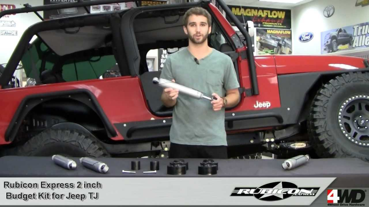 rubicon express - 2 inch economy kit for jeep tj - jeep lift kits