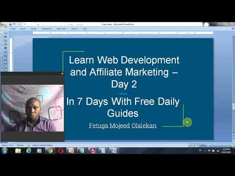 7 days Web Development and Affiliate Marketing Guide Installing Webuzo and Domain Name Server