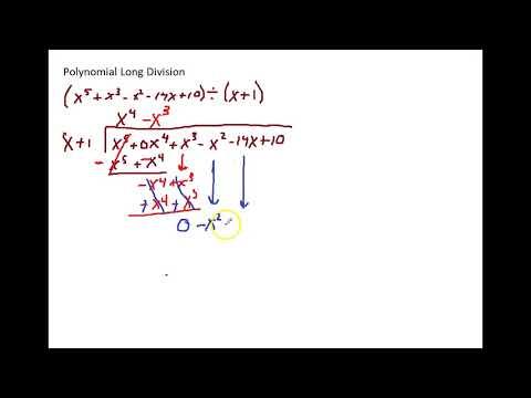 Polynomial Long Division - Linear Divisor